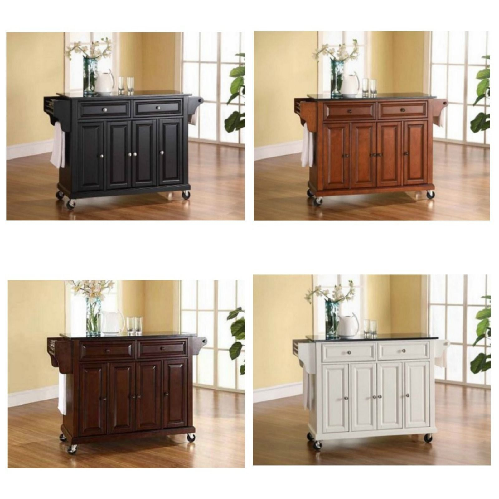 Kitchen carts and islands on wheels counter granite top for Kitchen islands wheels
