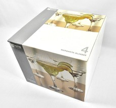 Set of 4 Margarita Glasses – JC Penny Home Collection – New In Box! - $14.80