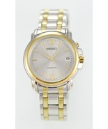 Seiko Kinetic Men's Silver Gold Stainless Steel Casual Easy Read Date Watch - £79.11 GBP