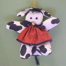 Black & White Cow Fabric Christmas Ornament - $5.95
