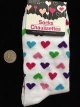 Bright GLITTER HEARTS CREW SOCKS-Novelty Print Love Rockabilly Lolita Di... - $4.92