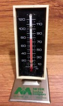 Vintage Meyer Lumber Advertising Desk Thermometer with Metal Base - 1970's - $16.00