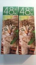Kitten in a Basket Jigsaw Puzzles Fur Baby Pet Tabby Cat New- Lot of 2 - $14.00