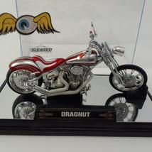 "Von Dutch Kustom (1:18) ""Dragnut"" Red Motorcycle Diecast, by Jada Toys / Loose image 2"