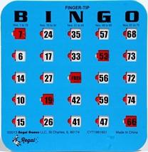 Regal Games 25 Blue Fingertip Shutter Slide Bingo Cards - $32.38