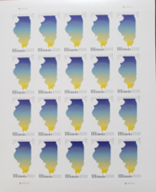 New! ILLINOIS Statehood 2017 (USPS) STAMP SHEET 20 FOREVER STAMPS - $14.95