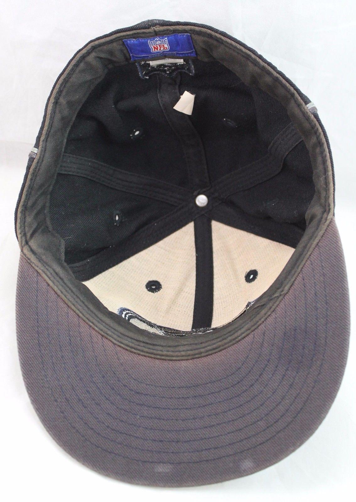 98d2f9fe6c9 Seattle Seahawks NFL Football Dark Embroidered Black Reebok Cap Hat 7-3 8