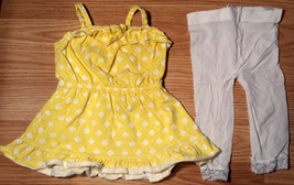 Girl's Size 6-9-12 2 Piece Yellow Floral Ruffled Old Navy Dress & Laced ... - $16.00