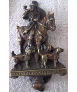 Figural cast brass door knocker JOHN PEEL HUNTSMAN ON HORSEBACK 1900's - £15.69 GBP