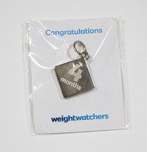 New Weight Watchers Charm Silver 4 Month Achievement Diamond Award - $16.82