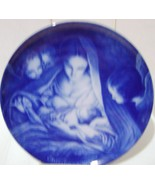 Kurt Kaiser Christ the Savior Is Born Blue Christmas Plate 1976 - $18.00
