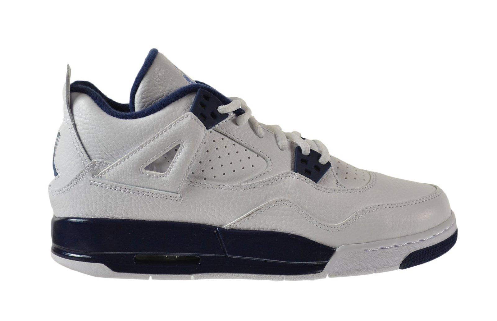 best loved d8f75 50952 Nike Jordan Kids Air Jordan 4 Retro Bg White Legend Blue Mdnght Navy  Basketba