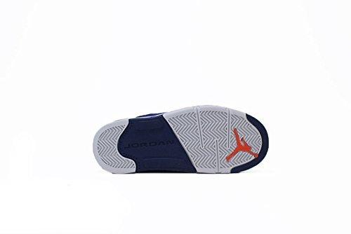 on sale cc5e8 fd533 Nike Air Jordan 5 Retro Low GS Kids Basketball Shoes, Deep Royal Blue   Team