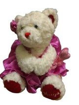 HUGS MAGNETIC HANDS BUILD A BEAR RED HEART WHITE PLUSH TEDDY & WAND, DRE... - $19.79