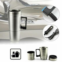 Car Heating Cup 12v Stainless Steel 300ml Portable Tea Pot Thermos Vehic... - $17.99
