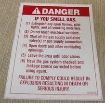 """RV Safety Decal """"Danger If You Smell Gas"""" UPC:710534473873 - $7.43"""