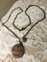 "Grandmas Estate Beautiful Believe Locker 18"" Necklace (Mia) - $9.89"