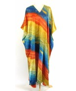 Vintage Satin Ocean Theme Caftan One Size Fits All - $24.99