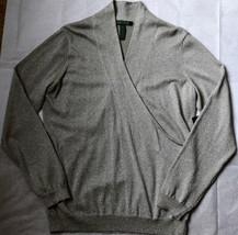$129 NWT Ralph Lauren Metallic M L Sweater Party Cocktail Evening Silver... - $54.99
