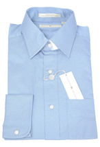 NWT Joseph Abboud Mens Solid Blue Egyptian Cotton Button Front Dress Shi... - $85.37 CAD