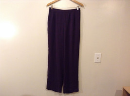 Norton McNaughton Women's Size M Dark Purple Pants Plum Eggplant Straight Leg