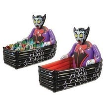 Inflatable Halloween Coffin Cooler Dracula Party Decorations Drinks Stor... - €52,87 EUR