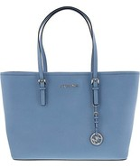 Michael Michael Kors Jet Set Saffiano Leather Travel Tote - Sky - $208.60