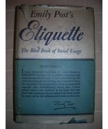 1953 Emily Post's ETIQUETTE social usage DJ FEM... - $35.00