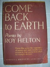 1946 COME BACK TO EARTH Roy Helton [1ST] DJ poetry - $15.00