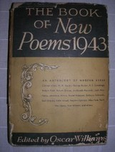 1943 BOOK of NEW POEMS Oscar Williams [1ST] DJ ... - $45.00