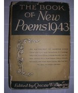 1943 BOOK of NEW POEMS Oscar Williams [1ST] DJ cummings - $45.00