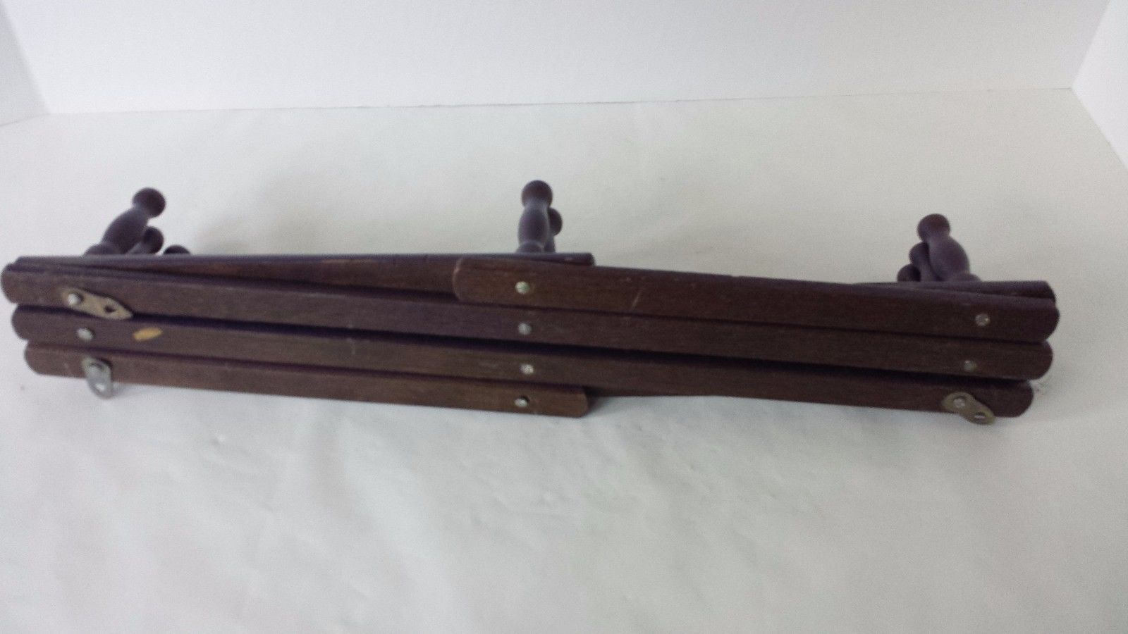 "Purple Wood Wall Hanging Rack 18"" Tall to 28"" Wide"