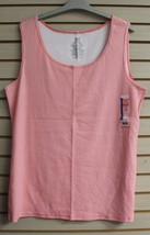 Cute New Womens Plus Size 5 X 30 W 32 W Cosmo Coral Summer Striped Tank Top Shirt - $9.74