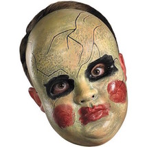 SMEARY DOLL FACE MASK PURGE GREEN BLACK RED Halloween Creepy - $20.53