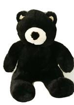 "Build A Bear Vintage Black Bear Plush 2001 Stuffed Animal Toy Velvety Soft 15"" - $19.24"