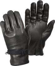Black D-3A Type Military Genuine Leather Gloves - $376,62 MXN