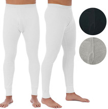 Men's Cotton Waffle Knit Thermal Underwear Pajama Stretch Sleepwear Pants