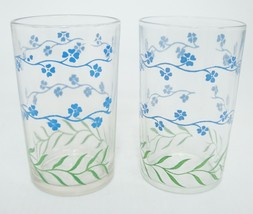 Swanky Swigs Forget Me Not Juice Glasses Light Blue Set of 2 by Kraft Vi... - $8.90
