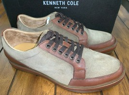 Kenneth Cole Abeo Clayton Shoes Brown Leather Suede Oxford Casual Mens 9 N  - $74.25