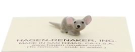 Hagen-Renaker Miniature Ceramic Mouse Figurine Tiny Baby with Straight Tail image 1