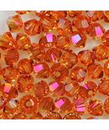 6mm Crystal Astral Pink Swarovski Xilion Beads 5328 72  bicones, w orange - $11.75