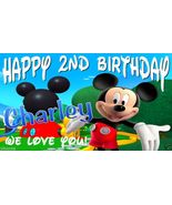 Mickey Mouse Club House Custom Birthday Party Banner Decoration-Mickey - $34.95