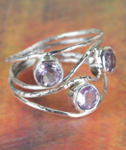 Palmeira Faceted Amethyst Gemstone Sterling Silver Ring All size BJR-452... - $15.99+