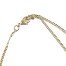 AUTHENTIC CHANEL GOLD CC LOGO PEARL CRYSTAL PENDANT NECKLACE MINT image 3