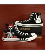 Converse All Star Grateful Dead Skull Roses Custom Hand Painted Canvas S... - $135.00