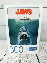 Blockbuster JAWS Shark Movie Poster 300 Piece Jigsaw Puzzle NEW - $9.45