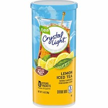Crystal Light Lemon Iced Tea Drink Mix 6 Pitcher Packets