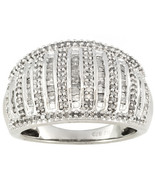 116 diamonds in ring in 925 silver   size 7     NEW with tag   PRICE DROP! - $75.99+