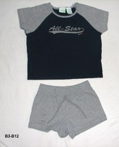 Circo 2 pc Black Gray ALL STARS top and Gray Shorts Sz S &M - $8.99