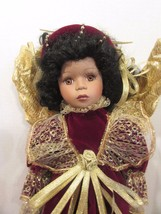 Seymour Mann Connoisseur Collection doll; Red Velvet Gold angel wings, 1... - $19.80